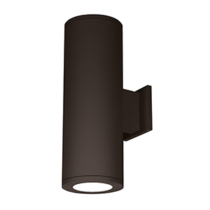 Tube Architectural 8-Inch LED Double Wall Light Shines Up and Down 2700K 90 CRI in Bronze