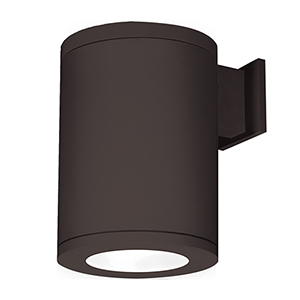 Tube Architectural  8-Inch LED Wall Light Straight Up and Down Beam 3000K in Bronze