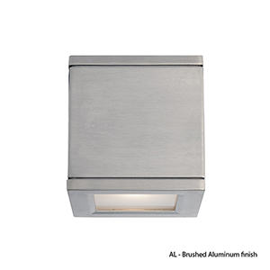 Rubix Brushed Aluminum Energy Star LED Wall Light with White Diffuser Glass