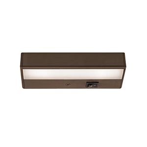 LEDme Brushed Bronze 8-Inch 120V Light Bar 2700K Warm White