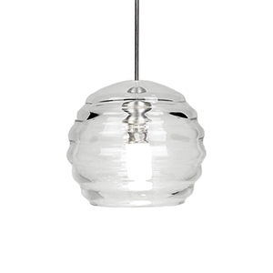 Clarity Brushed Nickel LED Mini Pendant