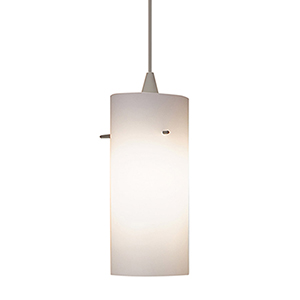 Dax Brushed Nickel Energy Star LED Mini Pendant with White Art Glass