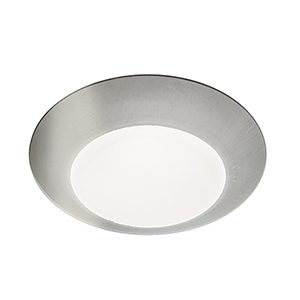 Disc Brushed Nickel 4-Inch 3000K LED ADA Outdoor Flush Mount
