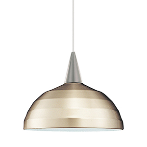 Felis Brushed Nickel Energy Star LED Mini Pendant with Brushed Nickel Metal