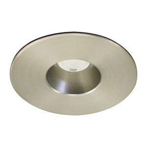 LEDme Brushed Nickel LED Round Mini Recessed Light with 3500K Cool White