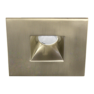 LEDme Brushed Nickel LED Square Mini Recessed Light with 3500K Cool White
