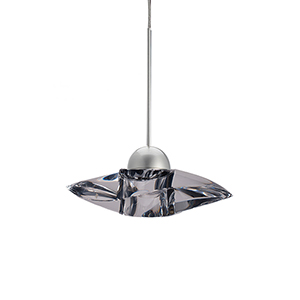 Sorriso Brushed Nickel LED Mini Pendant with Clear Eternity Crystal
