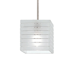 Tulum Brushed Nickel LED Mini Pendant with Frosted Glass