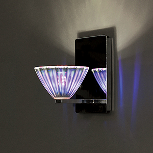Eden Chrome One-Light Wall Sconce with Dichroic Glass