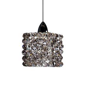 Mini Haven Chrome LED Mini Pendant with Black Ice Crystals