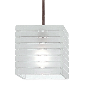 Tulum Chrome LED Mini Pendant with Frosted Glass