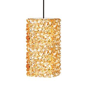Haven Dark Bronze One-Light Mini Pendant with Champagne Diamond Crystals