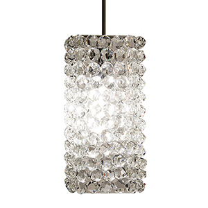 Haven Dark Bronze LED Mini Pendant with Clear Diamond Crystals