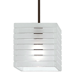 Tulum Dark Bronze LED Mini Pendant with Frosted Glass