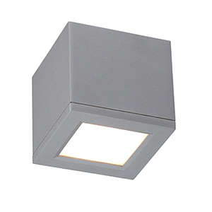 Rubix Graphite 5-Inch Energy Star LED Flush Mount with White Diffuser Glass