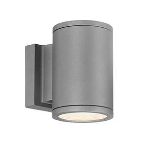 Tube Graphite Energy Star LED Wall Light with White Diffuser Glass