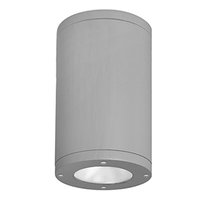 Tube Architectural  Graphite 11.75-Inch LED Outdoor Flush Mount with 3000K Flood Beam