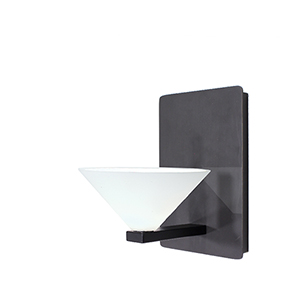Jill Rubbed Bronze LED Wall Sconce with White  Blown Glass
