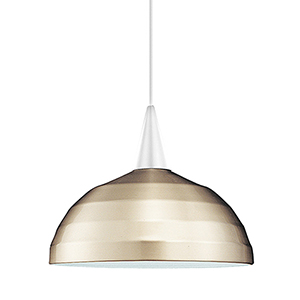 Felis White Energy Star LED Mini Pendant with Brushed Nickel Metal