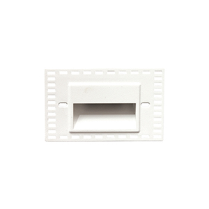 LEDme White LED Horizontal Step and Wall Light with White Diffuser Lens