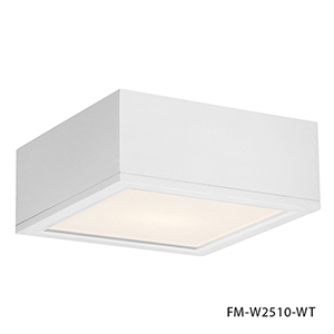 Rubix White 10-Inch Energy Star LED Flush Mount with White Diffuser Glass
