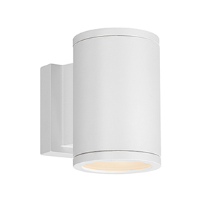 Tube White Energy Star LED Wall Light with White Diffuser Glass