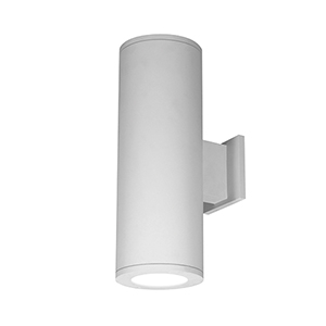 Tube Architectural 6-Inch LED Double Wall Light Away From Wall 2700K in White