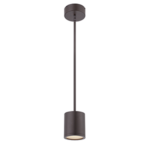 Tube Bronze Energy Star LED Pendant with White Glass Diffuser