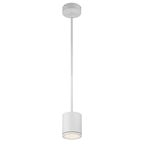 Tube White Energy Star LED Pendant with White Glass Diffuser