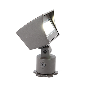 Bronze Adjustable LED Output Low Voltage Landscape Flood Light, 3000 Kelvins