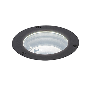 Bronze Low Voltage LED Six-Inch Landscape Inground Well Light, 3000 Kelvins