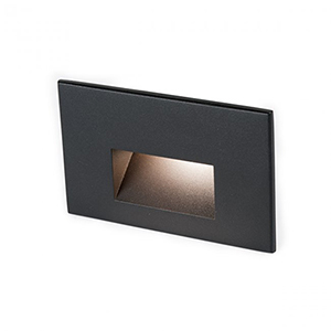 Black LED Three-Inch Low Voltage Landscape Step and Wall Light, 2700 Kelvins