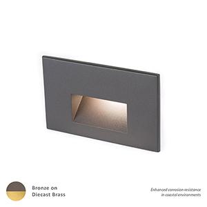 Bronzed Brass LED Low Voltage Landscape Step and Wall Light, 3000 Kelvins