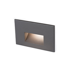 Bronze LED Three-Inch Low Voltage Landscape Step and Wall Light, 3000 Kelvins