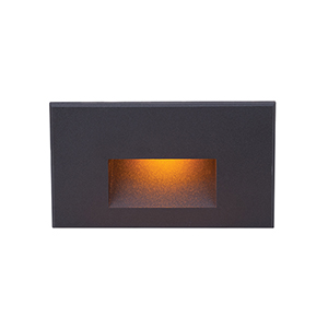 Black Amber LED Three-Inch Low Voltage Landscape Step and Wall Light