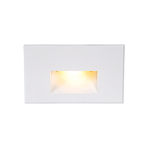 White Amber LED Three-Inch Low Voltage Landscape Step and Wall Light