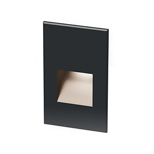 Black LED Five-Inch Low Voltage Landscape Step and Wall Light