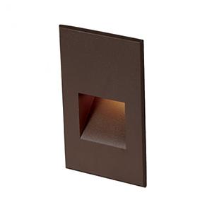 Bronze LED Five-Inch Low Voltage Landscape Step and Wall Light, 3000 Kelvins
