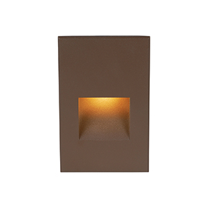 Bronze Amber LED Five-Inch Low Voltage Landscape Step and Wall Light