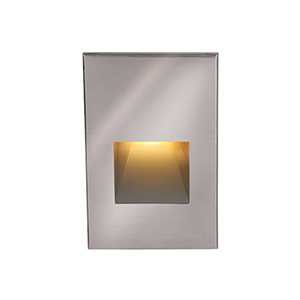 Stainless Steel Amber LED Low Voltage Landscape Step and Wall Light