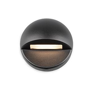 Black LED Three-Inch Low Voltage Landscape Deck and Patio Light, 3000 Kelvins