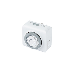 White Mechanical Timer for Landscape Power Supply
