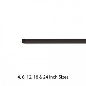Bronze Eight-Inch Extension Rod for Landscape Accent Light