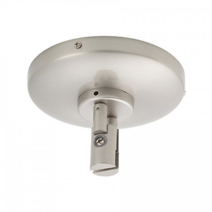 Solorail Close To Ceiling Power Feed - Brushed Nickel