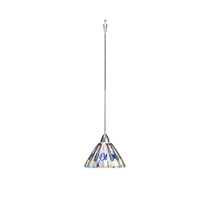 Eden Quick Connect Brushed Nickel Mini Pendant with Dichroic Coated Shade