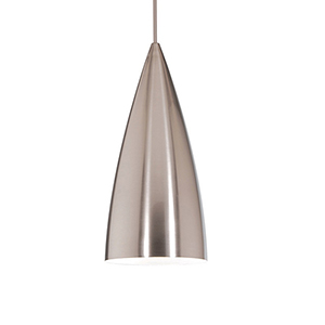 Bullet Brushed Nickel Mini Pendant with Brushed Nickel Shade