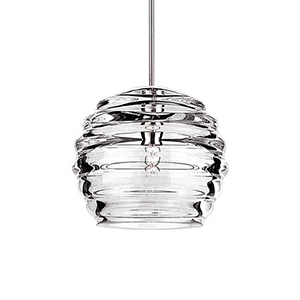 Clarity Chrome Mini Pendant with Clear Shade