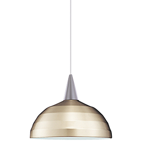 Felis J Series Brushed Nickel Mini Pendant with Cone Socket and Brushed Nickel Shade