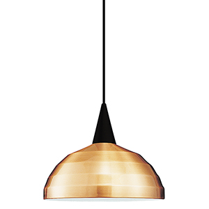 Felis L Series Black Mini Pendant with Cone Socket and Copper Shade