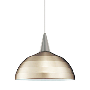 Felis Brushed Nickel Dome Pendant with Cone Socket and Brushed Nickel Shade